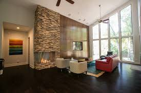 ambiance interior design. Modren Ambiance Stone Fireplace  Open Living Room Design By Ambiance Interior Design With W