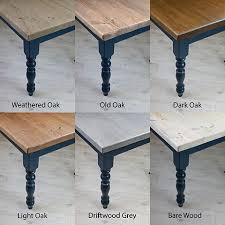 square leg dining table with reclaimed
