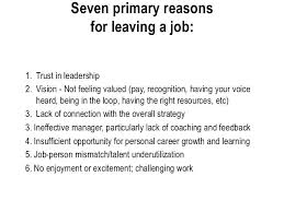 Good Reasons To Leave A Job Good Reason To Leave Job For Leaving Printable On Resume Gallery