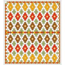 Samples of Hexagon Quilts | Quilt Patterns & Blocks | Angie's Bits ... & Free hexagon quilt idea,