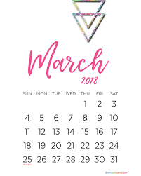 march calendar 2018 indonesia free printable templates