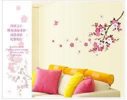 romantic sakura flowers wall stickers home decorations 9053 living bedroom office diy fl decals tv