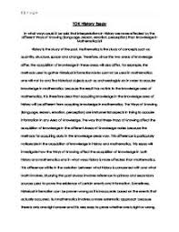 tok history essay international baccalaureate theory of  page 1 zoom in