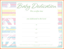 Baby Dedication Certificates Templates Babydedicationcertificate24 Professional And High 5