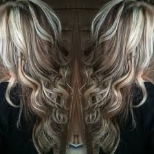 Platinum Blonde Highlights With Chocolate Brown