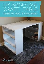 diy desk cost. DIY Bookcase Craft Table \u2013 Review Of Cost And Challenges. DIY_Bookcase_Craft_Table_Review Diy Desk R