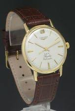 longines flagship wristwatches 18ct gold longines flagship automatic date mens vintage watch c1959