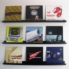 diy floating vinyl record shelves
