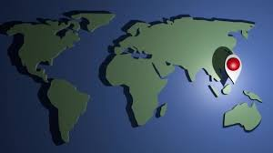 Animated Travel Map The World Map With Landmark Symbole Moving Trough All Continents Animated Travel Advertisement Trip Around The World From America To Europe Asia Australia Africa South America