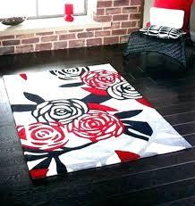 red bathroom rugs bath rug sets trend bright
