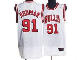 Nba Jersey White Bulls Dennis Rodman 91 Jerseys Cheap Throwback Stitched