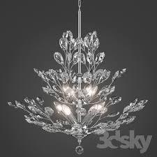 upside down silver leaf chandelier