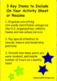 Activities Resume Resume Online Builder