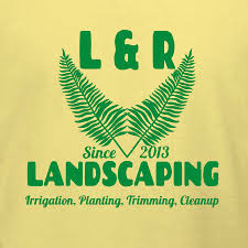 Backyard Design Online Magnificent L R Landscaping Services Tshirt Template Make Your Own