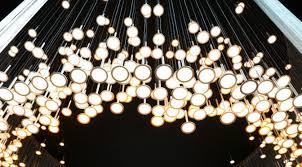 neueslicht ufo chandelier fiber optic chandelier fiber optic light waterproof chandelier simon bruenner inhabitat green design innovation