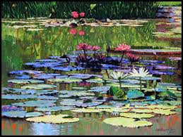 the peace of the lily pond paintings by john lautermilch