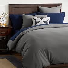easton flannel duvet cover sham dark gray