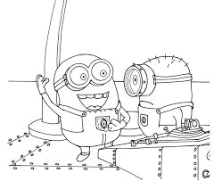Small Picture Minions Despicable Me Coloring Pages Cartoon Coloring pages of