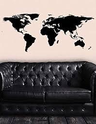Stickerbrand Black World Map Wall Decal Sticker ... - Amazon.com