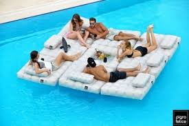 kool furniture. modulu0027air pool floats double as functional deck furniture kool