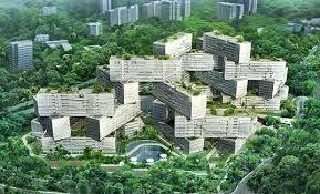 the interlace jenga like apartments