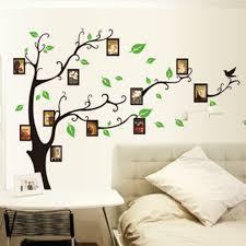 wall art ideas family mural tree wall decoration with curved branches model and using black paint fir draw the tree and using simple modern picture frame