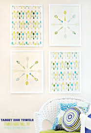 Wall Art For Kitchen How To Make Framed Fabric Wall Art With Target Kitchen Towels