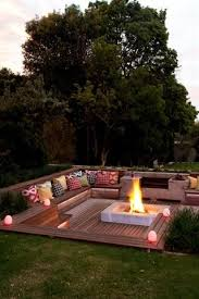 deck patio with fire pit. Backyard Landscaping Design Ideas. Sunken Fire PitsFire Deck Patio With Pit