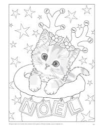 Christmas Kitty Coloring Pages Christmas Coloring Pages