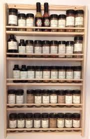 Wall mounted wooden spice rack