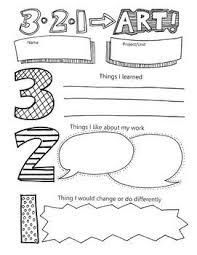 best presentation evaluation form ideas  321 art written reflection self assessment