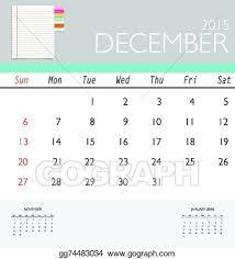 Template Monthly Calendar 2015 Vector Art 2015 Calendar Monthly Calendar Template For