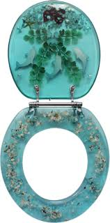 Turquoise Toilet Seat Cover