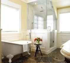 corner shower units for small bathrooms. corner shower stalls for small bathrooms with marble tiles and clawfoot tub units
