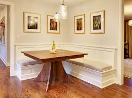 Kitchen Table, Mercer Island Dining Table W/built In Benches Traditional  Pertaining To With