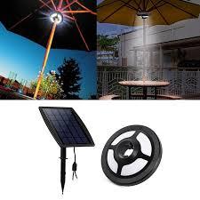 36 leds patio umbrella light 2 5w 6v solar panel and usb pertaining to inspirations 5