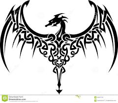 Dragon Art Tattoos Designs Celtic Dragon Tattoo Stock Illustration Image 46947764