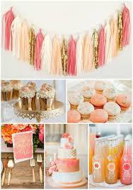 Coral and Peach Party and wedding Inspiration, Macaroons, cupcakes, wedding  cake, and