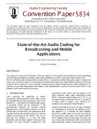 e library acirc state of the art audio coding for broadcasting and e library acirc state of the art audio coding for broadcasting and mobile applications