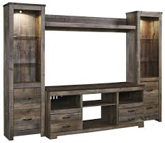 Tv Entertainment Stand Signature Design By Ashley Trinell Rustic Large Tv Stand 2 Tall