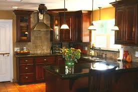 Attractive Kitchen Backsplash For Dark Cabinets Awesome Kitchen ...