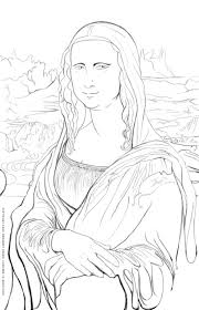 Da Vinci Coloring Pages Trycoloring