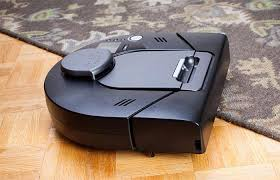 Neato XV Signature Pro Pet And Allergy Robot Vacuum Cleaner Cleaning The  Wooden Floor And Carpet