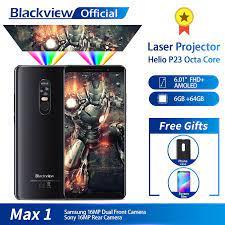 Camera Hành Trình Blackview Max 1 Máy Chiếu Di Động Điện Thoại AMOLED 4680  MAh Android 8.1 Máy Chiếu Mini Di Động Gia Đình 6 + 64GB Điện Thoại Thông  Minh MAX1|Cellphones