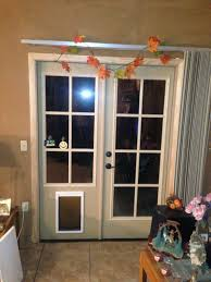 patio pet door deck jeld wen sliding with entrance icamblog ideas
