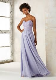 Chiffon Bridesmaid Dress With Embroidery And Beading Style 21501