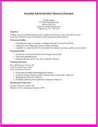 How To Make A Resume For A Hospital Job Example For Hospital Administration Resume Example For Hospital 2