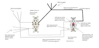 gfci wiring diagram out ground wiring diagram and schematic circuit breakers electrical 101