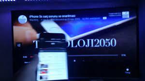 iphone dan smart tv ye youtube baglanti kurulmasi - YouTube