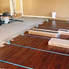 gluing engineered hardwood flooring